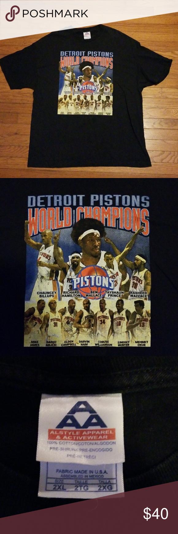 2004 Detroit Pistons Championship Shirt Usa 2xl Amazing Shirt Size Xxl Bad Boys 2 Detroit Pistons World Ch Clothes Design Mens Graphic Tshirt Fashion Design