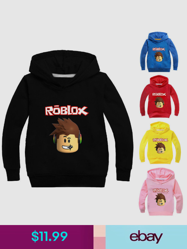 ROBLOX Boys Girls Kids Cartoon Casual Spring Fall Hoodies Sweatshirts Pullover
