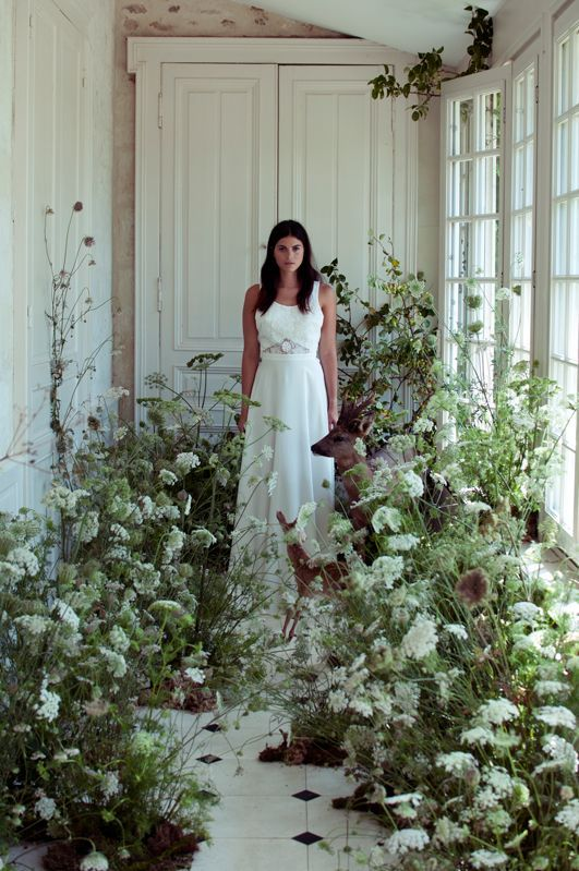Gowns amongst the greenery