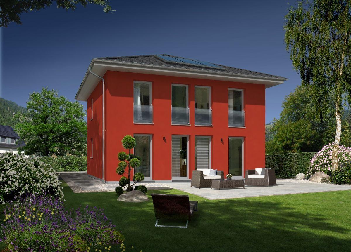 Moderne Stadtvilla Neubau Mit Zeltdach Architektur Fassade Farbe