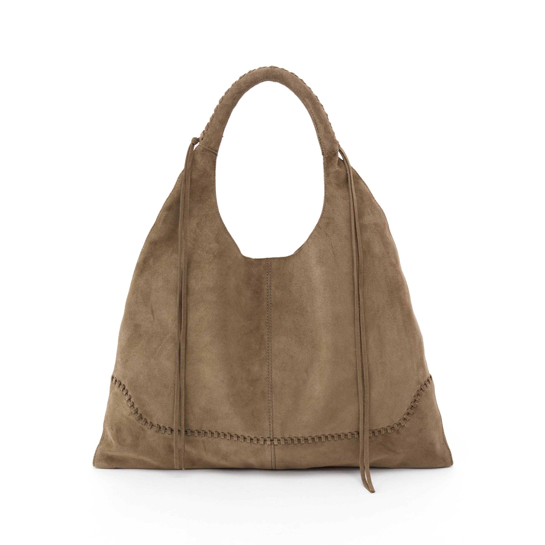 Nomad Women S Boho Suede Handbag Sage Green Hobo Bags