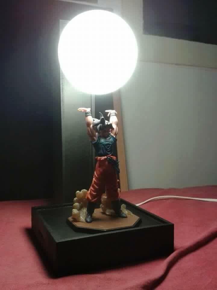 Dragon Ball Son Goku Spirit Bombs Table Lamp Luminaria Led Night Lights Dragon Ball Room Decorative Lighting Holiday Gifts Lamp Table Lamp Light Decorations