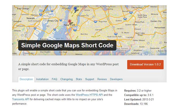Simple Google Maps Short Code Plugin   web   Map, Google
