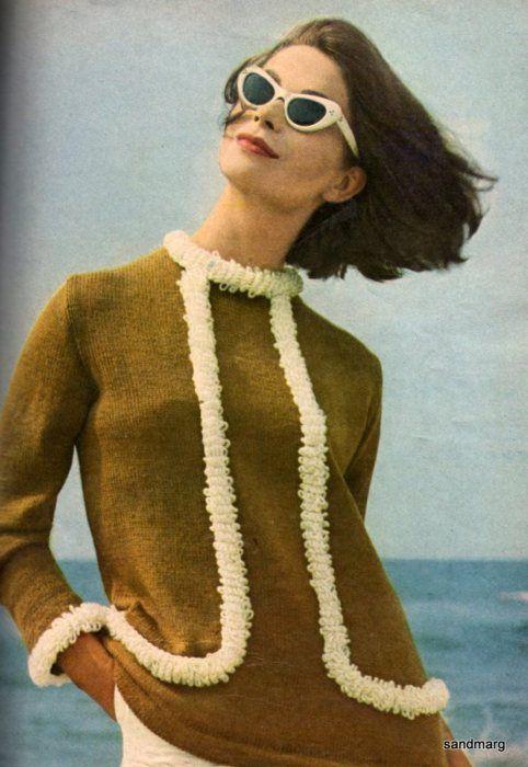 1960s Fashion Knitting Vogue  Printed Skirt #2dayslook #PrintedSkirt #anoukblokker  #kelly751 #lily25789    www.2dayslook.com