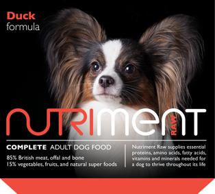 Duck Formula Raw Adult Dog Food with Superfoods (With