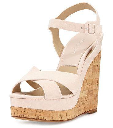 60358ecdd840 Cate suede wedge sandal by Michael Kors Collection. Michael Kors kid suede  sandal. 5