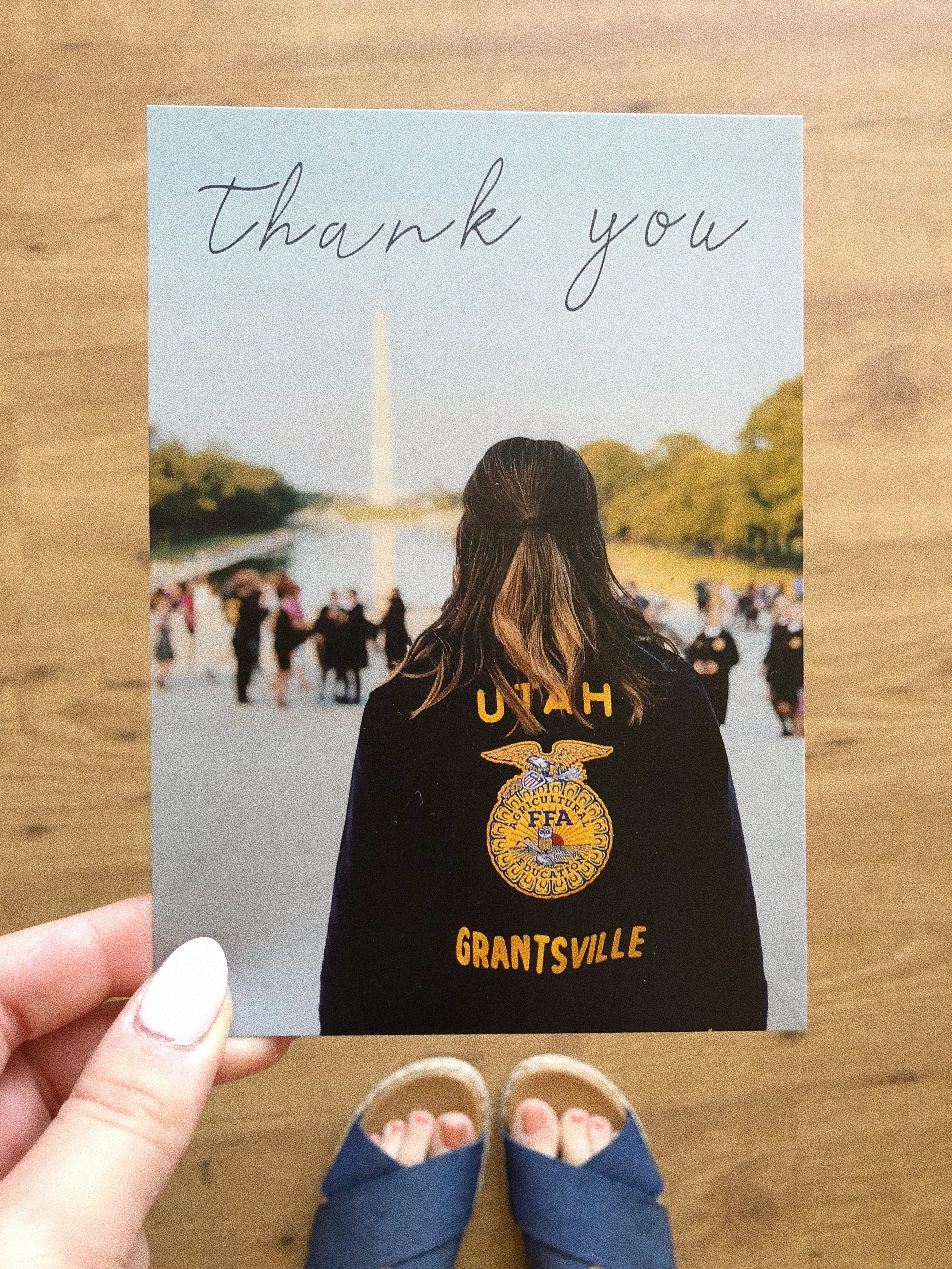 Personalized Thank You Cards Made These For Ffa Wlc Sponsors 3 Personalized Thank You Cards Thank You Pictures Ffa