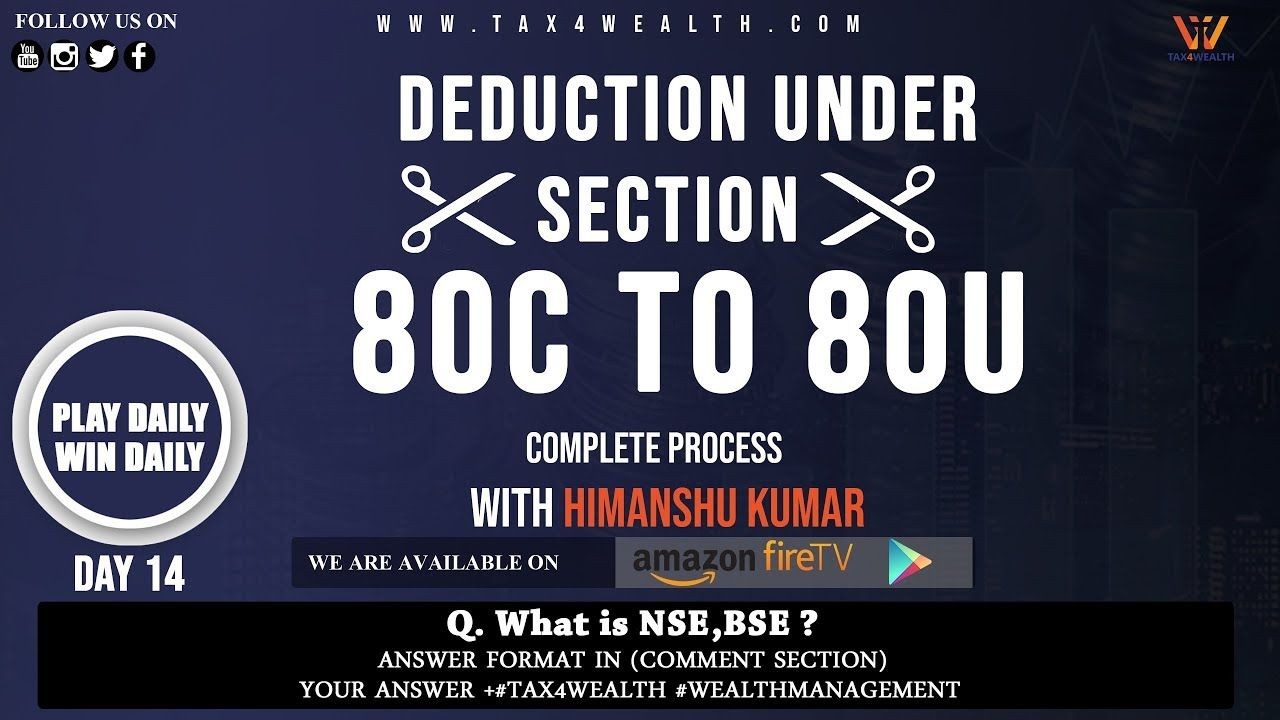 Deduction Under Section 80c To 80u Deduction Medical Health
