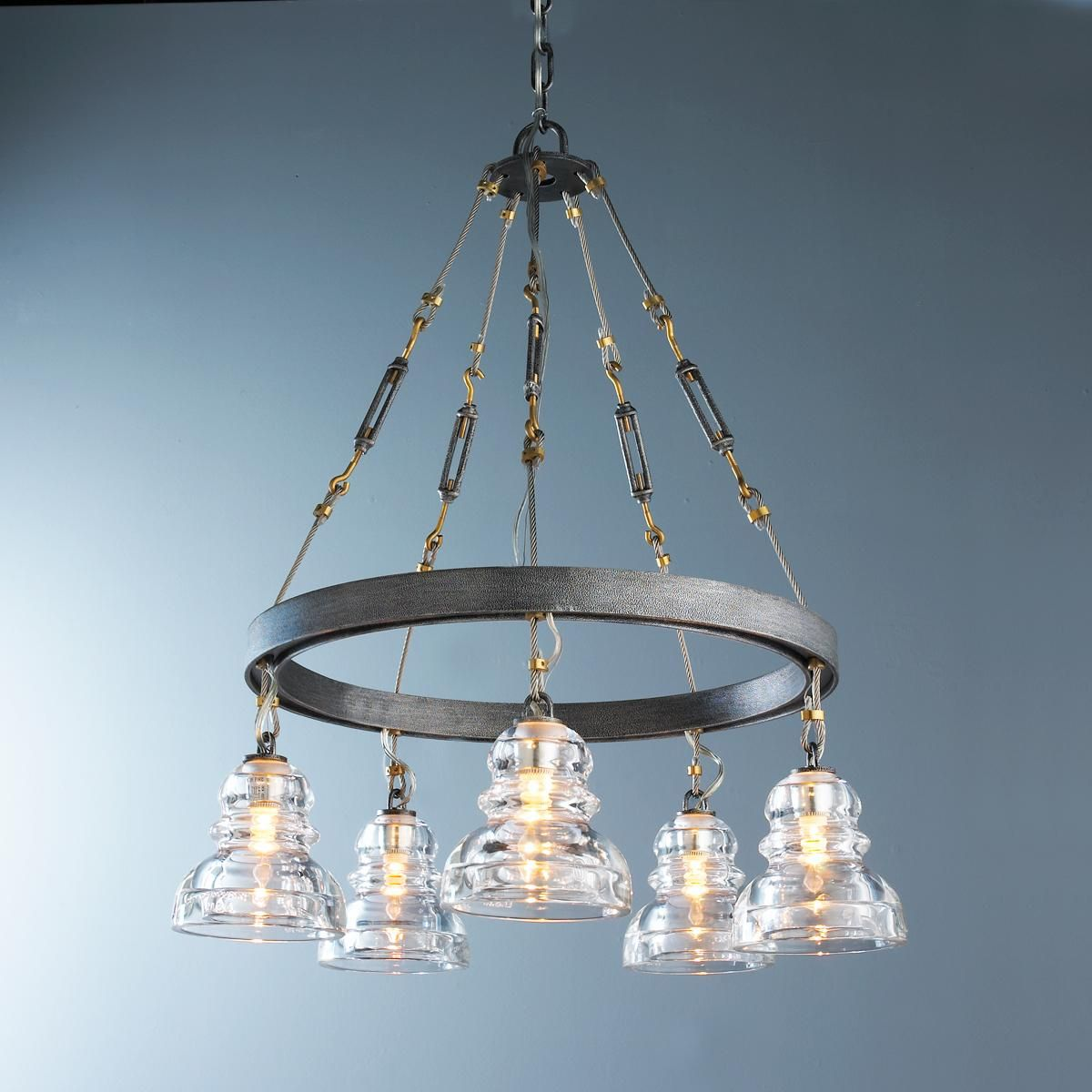 Reproduction Insulator Glass Chandelier from the lighting source ...