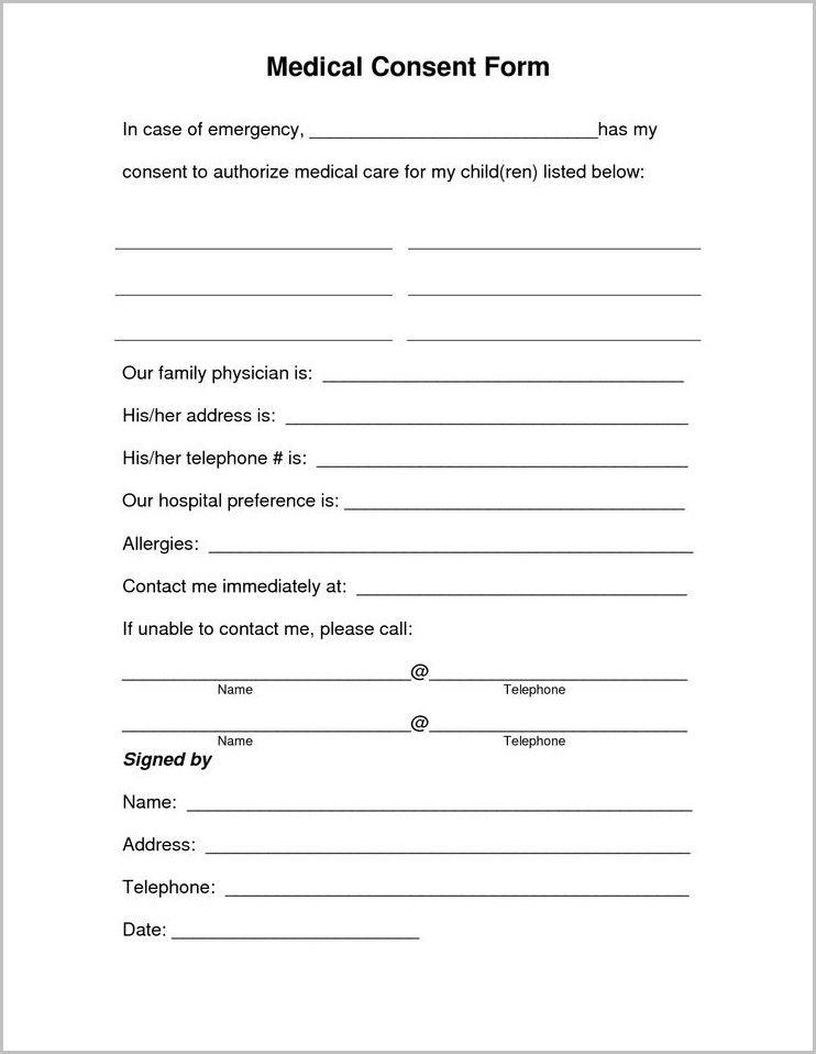 free printable child medical consent form for grandparents. Black Bedroom Furniture Sets. Home Design Ideas