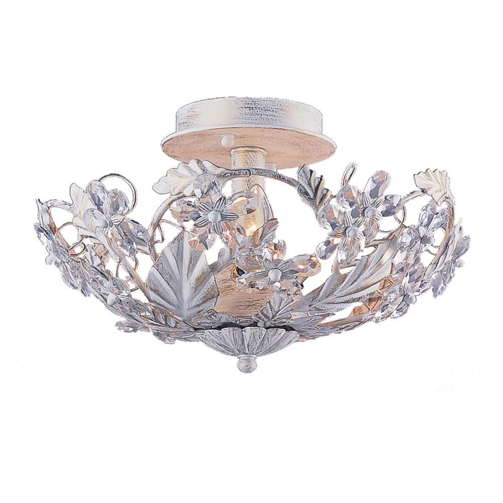 CRYSTAL SEMI FLUSH MOUNT LIGHT FIXTURE