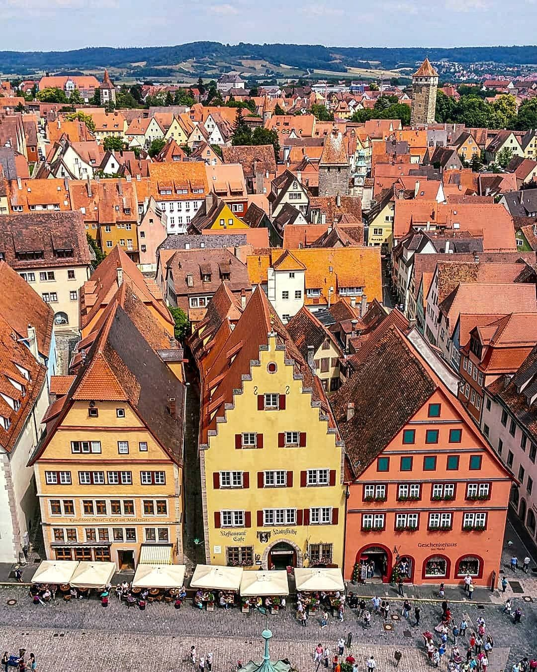 Voyageblondedid You Know That Sections Of Harry Potter The Deathly Hallows Were Filmed Here Aerial Shots Were Taken Of Rothenburg In 2010 But Unfortu