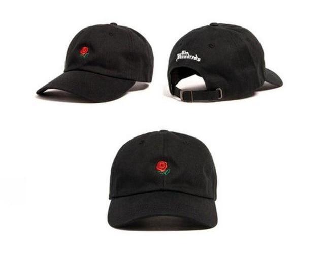 Dad Hat The Hundreds Flower Rose Embroidered Snapback Baseball Cap Men Visor Hat