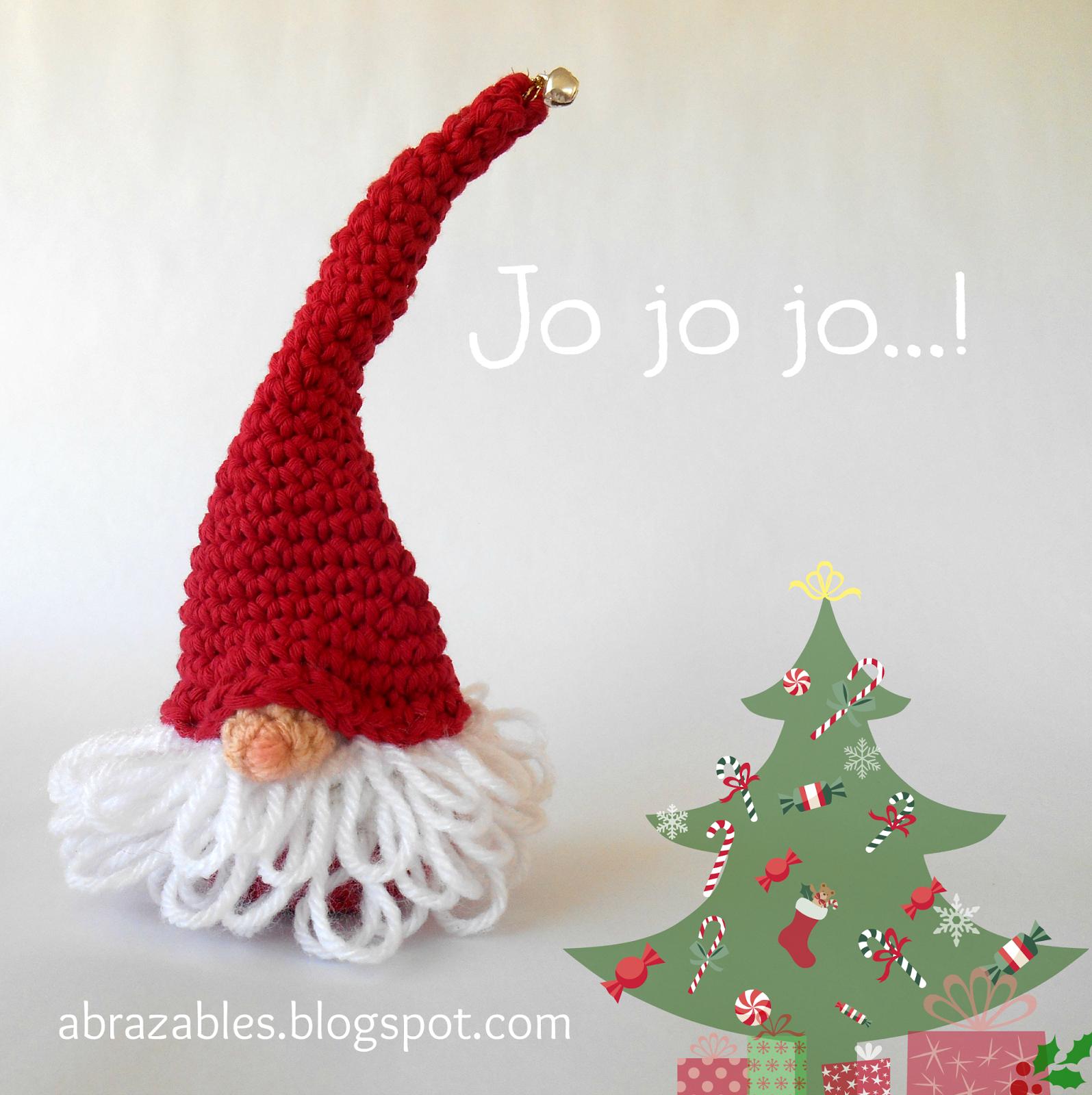 Santa gnome http://abrazables.blogspot.com.ar/2014/09/listas-para-la ...