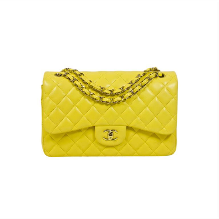 5acee45f8d227d Chanel Yellow 2.55 Jumbo Classic Lambskin Double Flap Bag....I'm in love!!!
