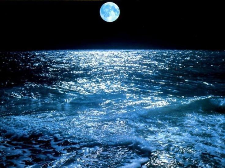 Reflection For Today Live Your Questions Rainer Maria Rilke Ocean At Night Beautiful Moon What Element Are You