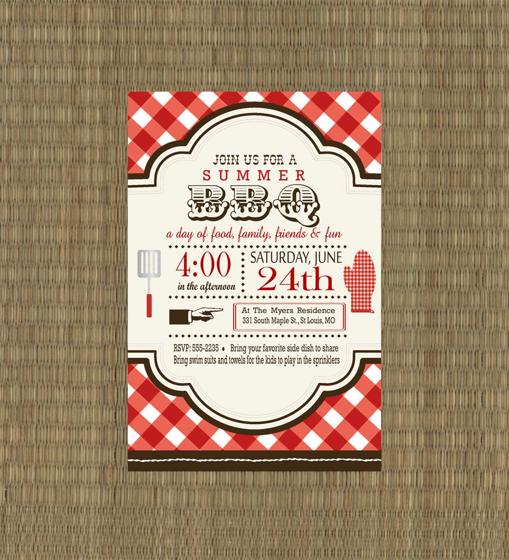 printable bbq invitation rehearsal dinner bbq invitation. Black Bedroom Furniture Sets. Home Design Ideas