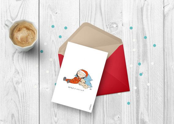 Christmas cuddles Illustrated and customizable holiday card Made