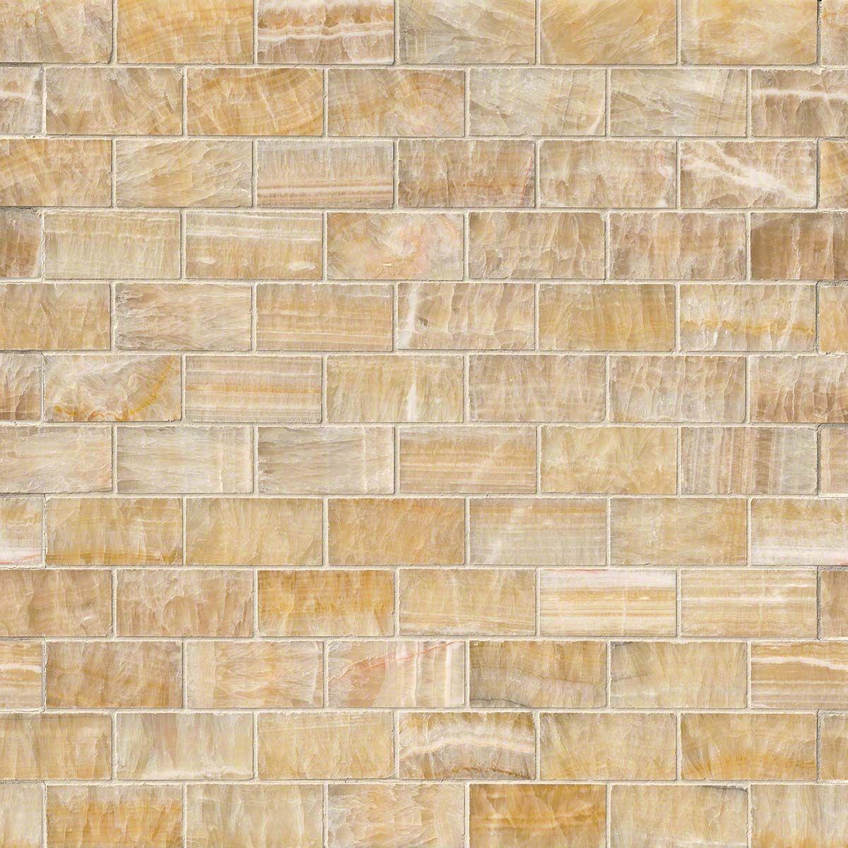 Honey Onyx 2x4x8mm Subway Tile In 12x12 Mesh 2017 Likes