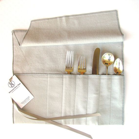 Anti Tarnish Flatware Roll 4 Sizes Personalized W Monogram Etsy Silverware Storage Fabric Storage Silverware