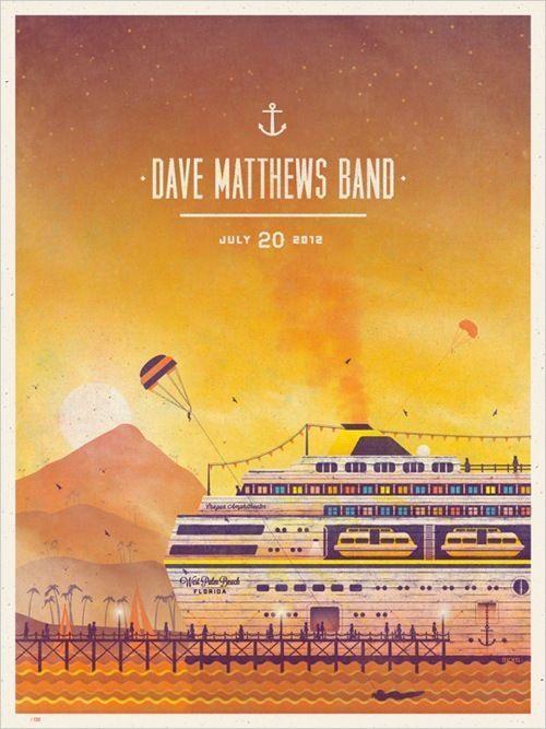 Rock Paradiso: Dave Matthews Band, Concert Flyers, 2012
