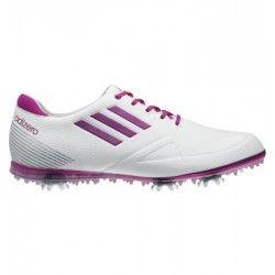 Adidas Womens adizero Tour Golf Shoe-White