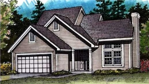 This+set+of+Country+Home+Plans+has+a+walk-in+closet+in+the+master+