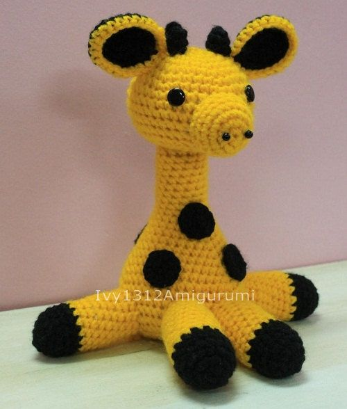 Blue Giraffe amigurumi pattern - printable PDF – Amigurumi Today Shop | 588x500