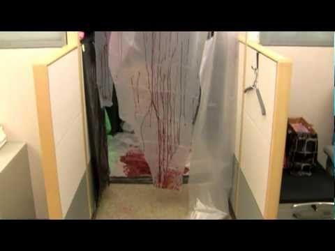 Disturbing Halloween Cubicle (2010 Office Contest) Halloween Ideas - halloween office decorating ideas