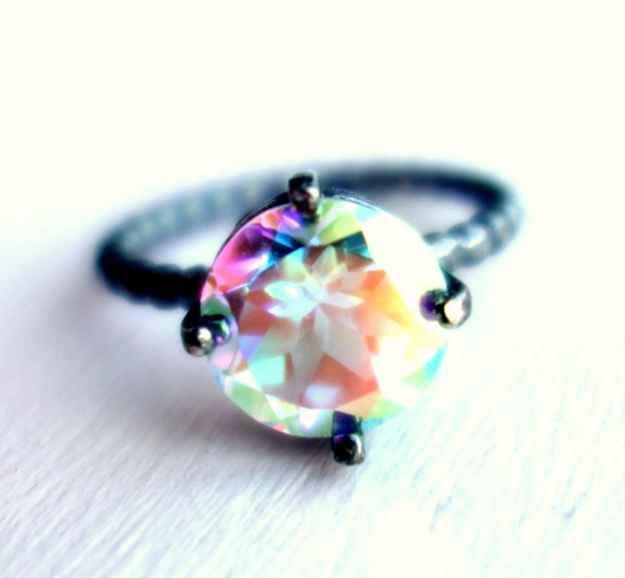Prism Opalescent Topaz Gemstone Ring, $210