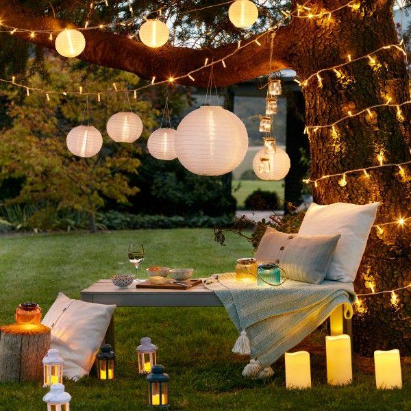 3er set led solar lampion wei lights4fun garten pinterest garten beleuchtung und. Black Bedroom Furniture Sets. Home Design Ideas