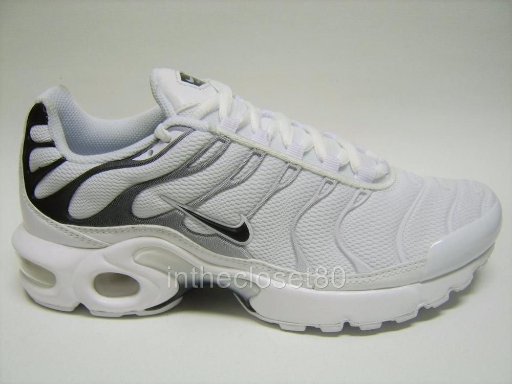 detailed look 725f9 e1a44 Nike Air Max Plus Tn GS Tuned White Black Juniors Girls Boys Womens 655020  108  Nike  Trainers