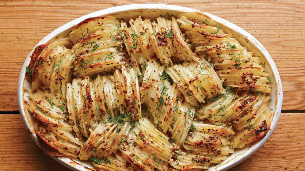 Hasselback Russet Potato Gratin - Recipe - FineCooking