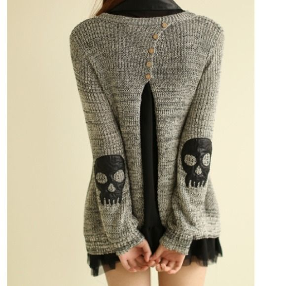 Love elbow patches.. and skulls.