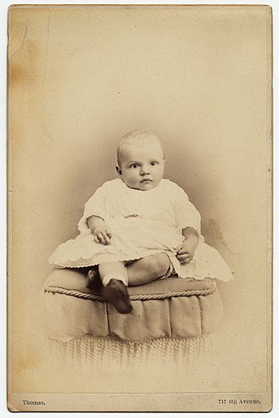 Citation: Rockwell Kent as a baby, 1882 Nov. / unidentified photographer. Rockwell Kent papers, Archives of American Art, Smithsonian Institution.