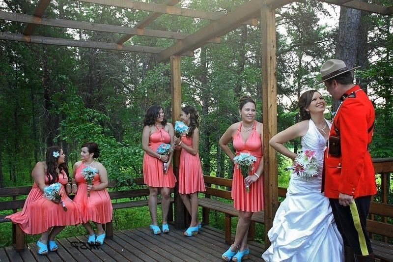 RCMP wedding-- so Canadian ;)   Wedding, Canadian, Dresses