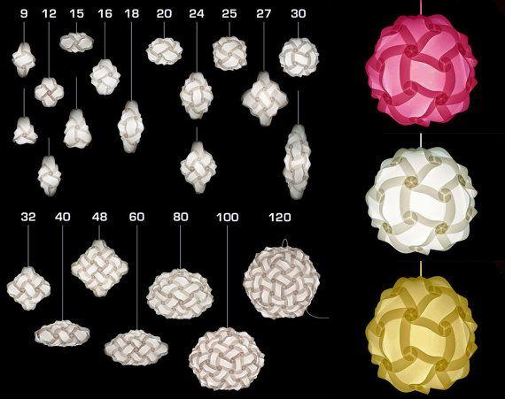 Modern Iq Puzzle Lamp Shade Diy Jigsaw Pendant Bought The 30 Piece Set Today Lamparas De Papel Manualidades Disenos De Unas