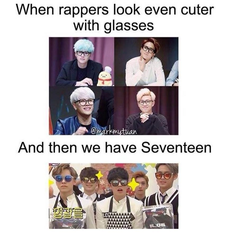 Rayban Sunglasses On With Images Seventeen Memes Funny Kpop
