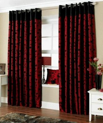 black and red curtains for living room | Red and black ...