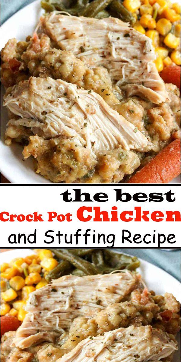 Crock Pot Chicken and Stuffing Recipe #stuffingrecipes