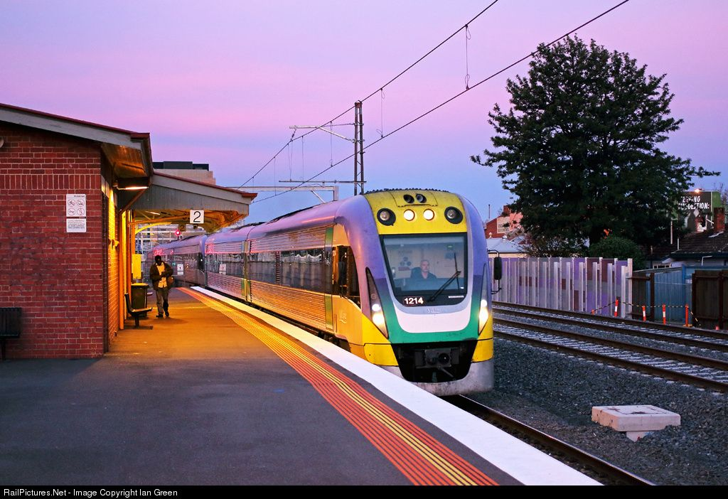 RailPictures.Net Photo: 1214 V/LINE Passenger VLocity class at Middle Footscray, Melbourne, Australia by Ian Green