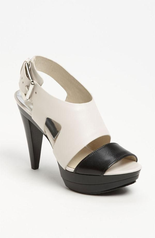 f364593343b9 Yes please! MICHAEL Michael Kors Black   White Sandal (on sale ...