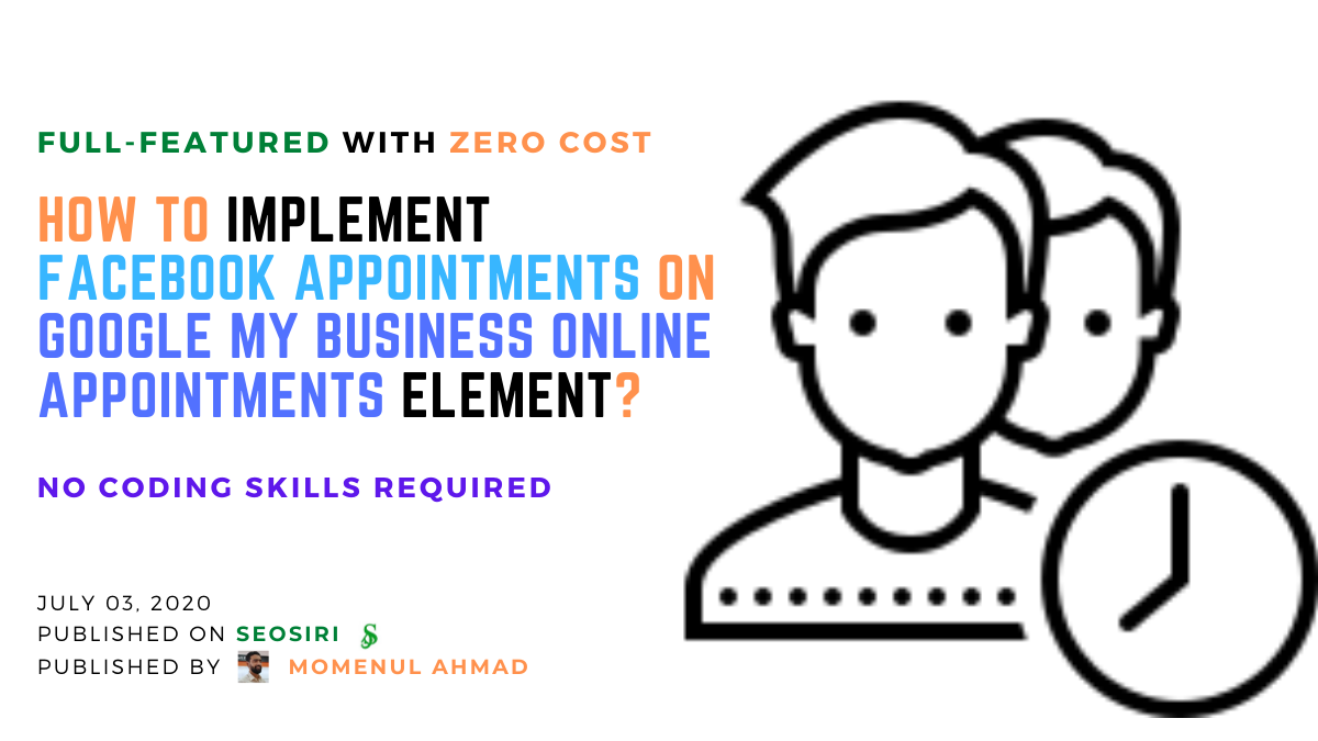 How to implement Facebook Appointments on Google My