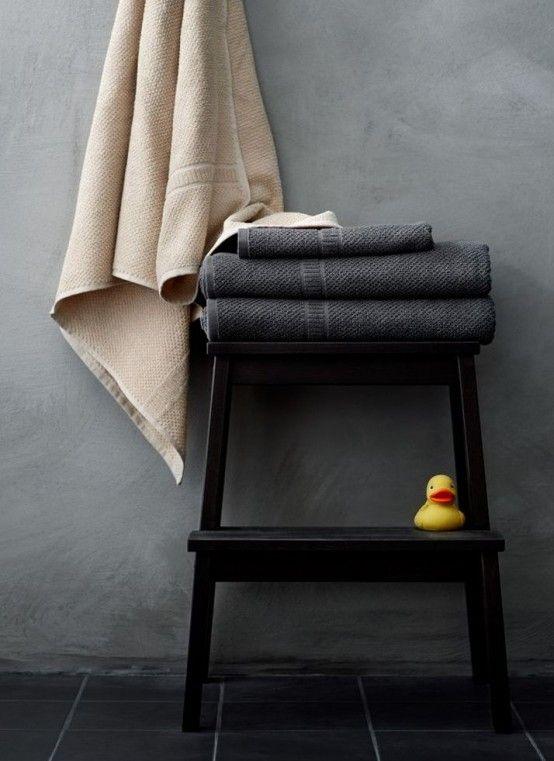 IKEA Bekvam krukje als handdoekopberger in de badkamer. #hergebruik ...