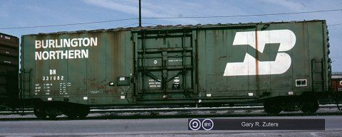 BN, Burlington Northern 50' Plug Door Boxcar, 331682 March 29th