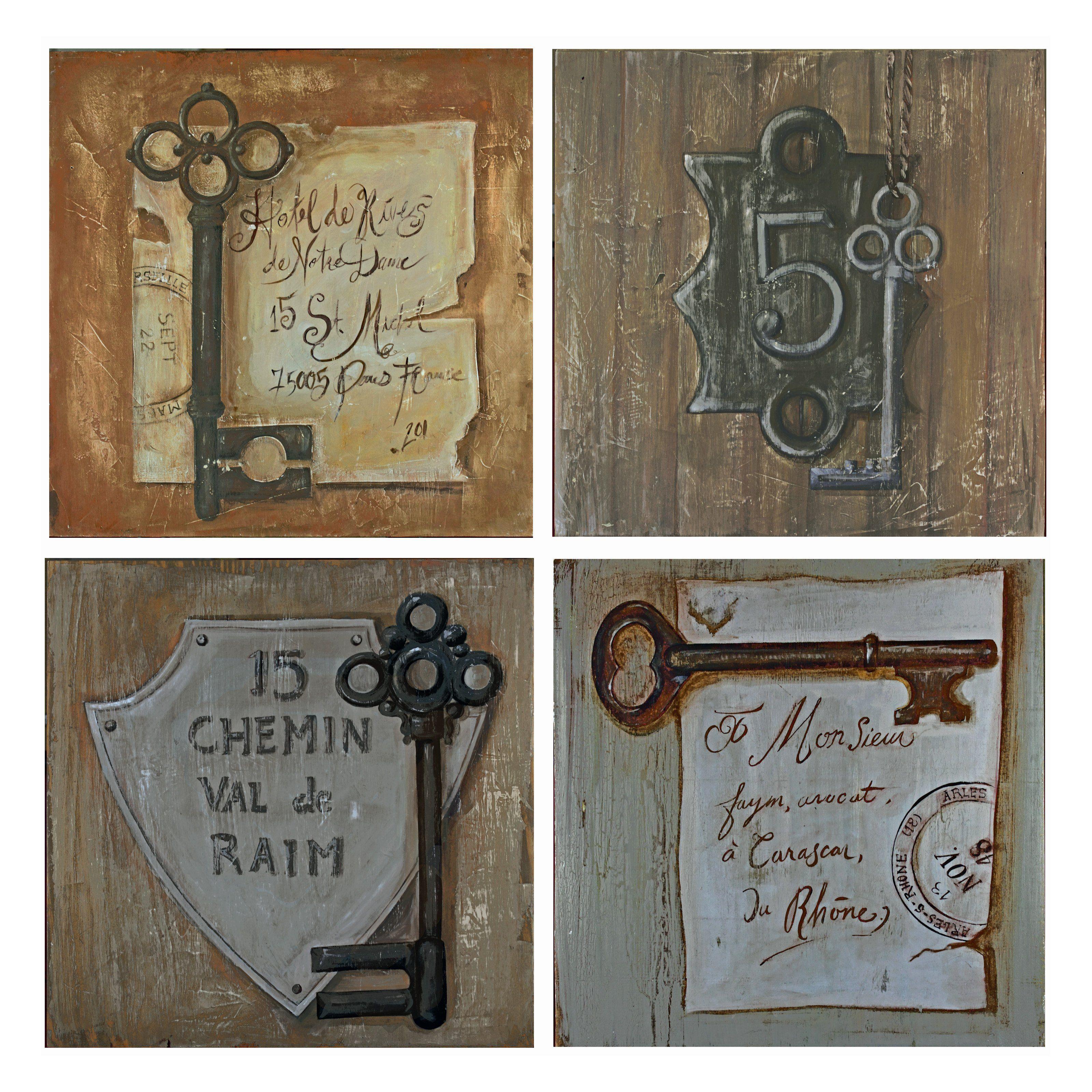 Key Wall Art Decor Vintage Door Skeleton Key Decor Funky Junk Decor