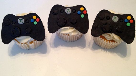 Video Game Controller Cupcake And Cake Toppers Video Game Party