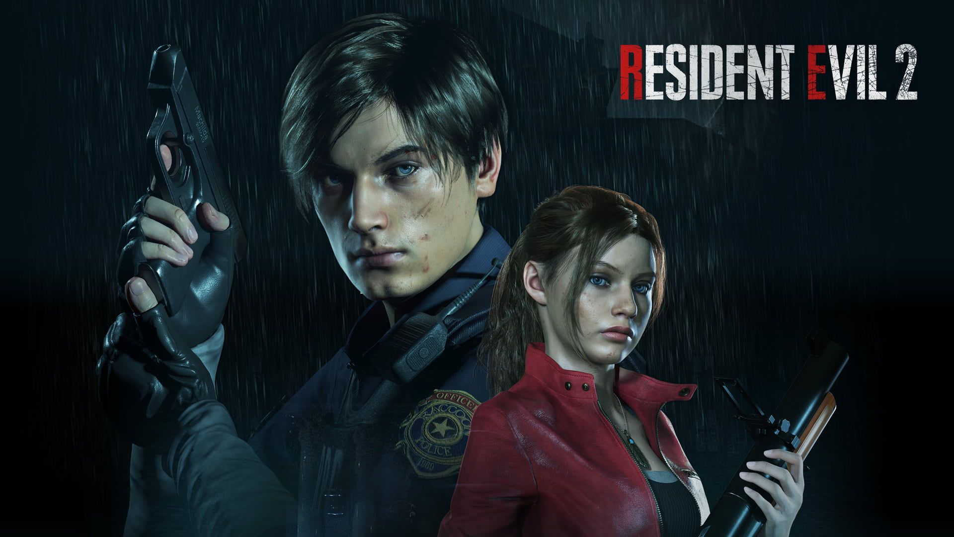 Resident Evil 2 Video Games Games Art Leon Kennedy Claire Redfield