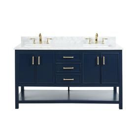 allen roth presnell navy blue drop in natural marble top common rh pinterest com