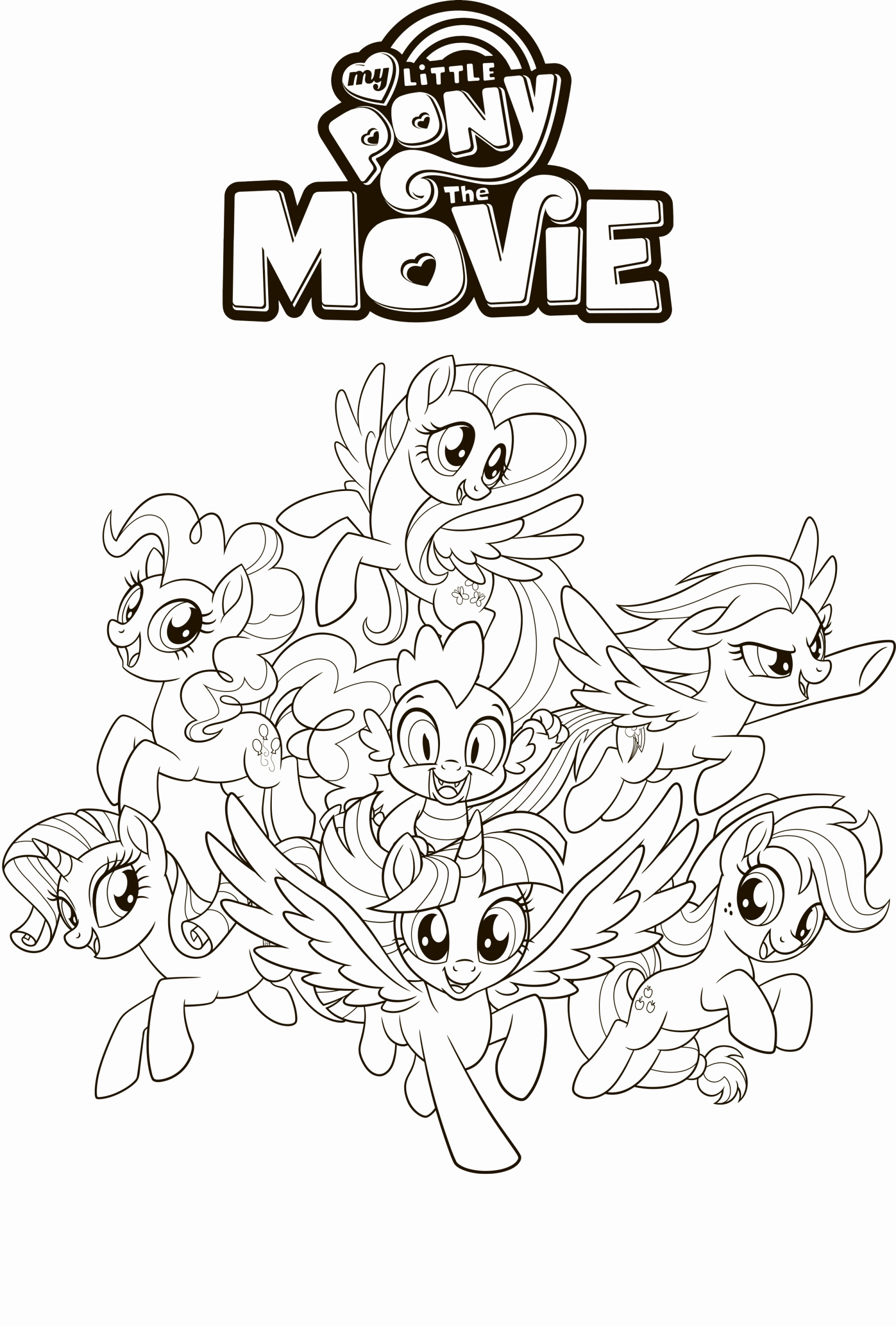 My Little Pony Coloring Pages Kids In 2020 My Little Pony Coloring My Little Pony Movie My Little Pony Characters